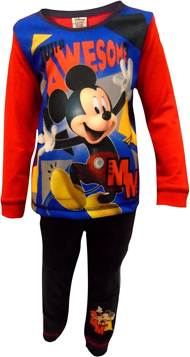 Kids Boys Mickey Mouse Pyjamas Awesome Pjs Ages 18 Months to 5 Years
