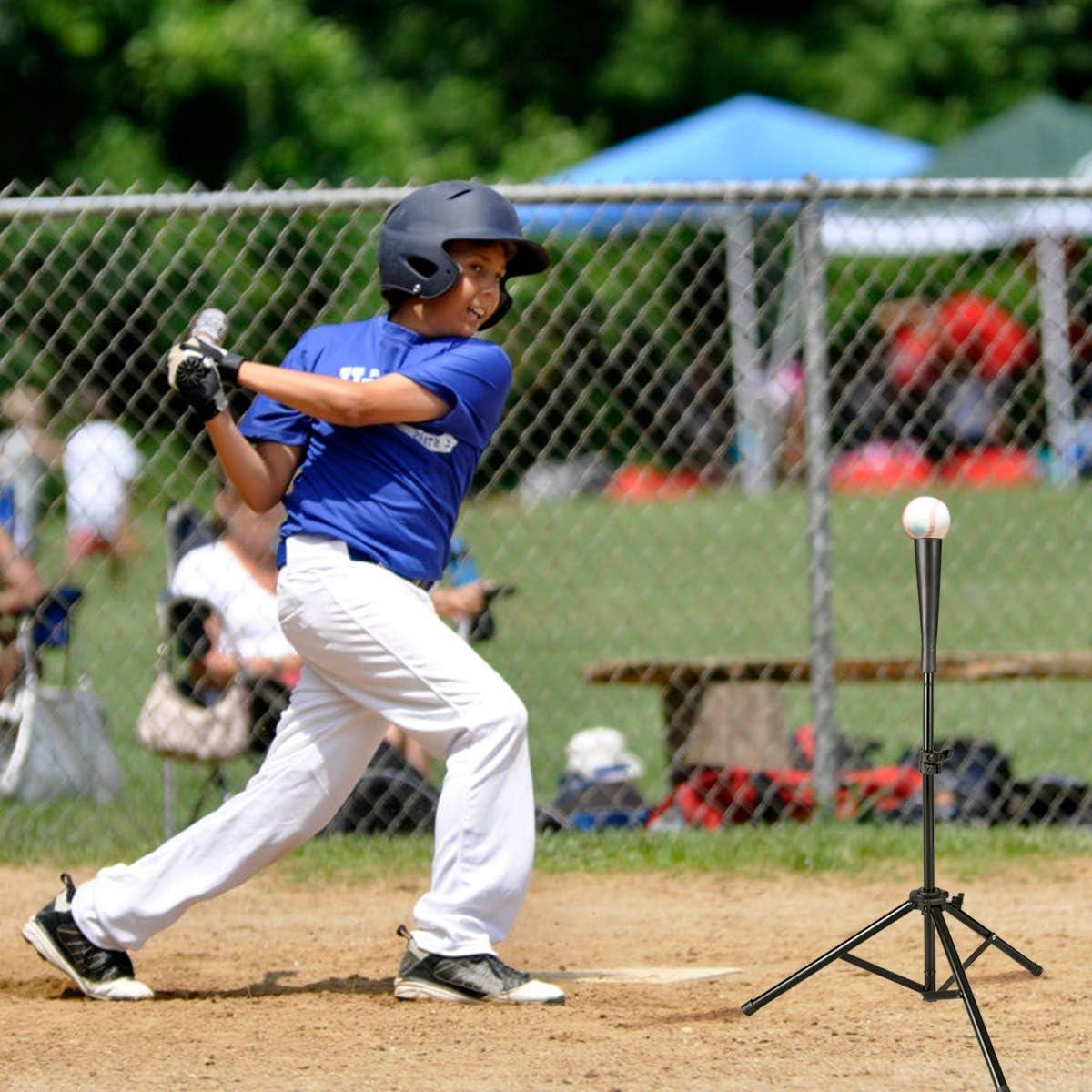 Adjustable Baseball Softball Tripod for Batting Training Practice with Carrying Bag Goplus Batting Tee