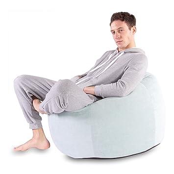 Fine Lounge Pug Classic Soft Pastel Bean Bag Sky Size Large Machost Co Dining Chair Design Ideas Machostcouk