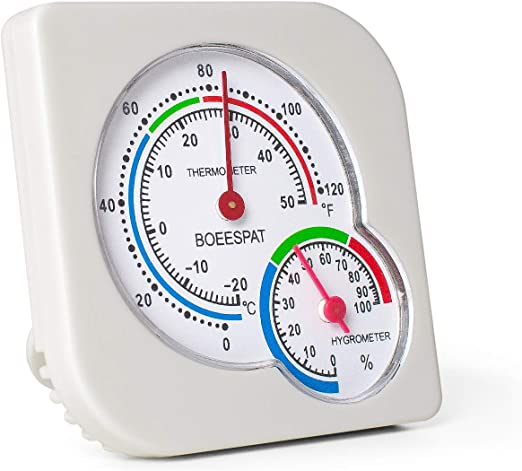 Indoor Thermometers Home & Kitchen BOEESPAT 2 Pack Mini