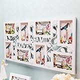 Reelva LOVE & FAMILY ROSE Multi Aperture Photo Frame Collage Photo Frame Wall Home Decor - WHITE