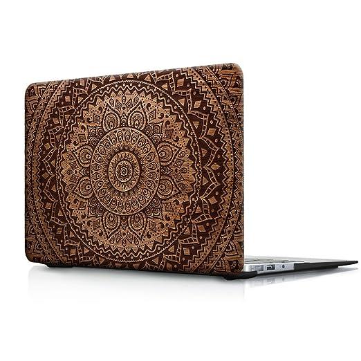 9 opinioni per Cover MacBook Air 13 Costodia , Haocoo Mandala e Legno Pattern Ultra Sottile