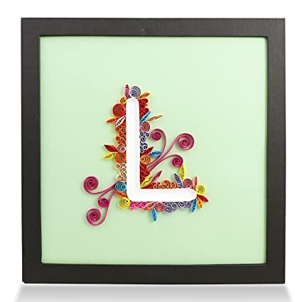 Amazon letter l handmade paper quilling artwork framed 3d wall letter l handmade paper quilling artwork framed 3d wall art and stand art as unique altavistaventures Gallery