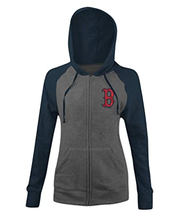 newest a0708 a15d1 New Era Boston Red Sox Women's MLB Double Tri-Blend Hooded Sweatshirt