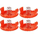 4PCS Spool Caps + 4PCS Springs Replacement Parts Accessories Compatible with Black + Decker RC-100-P Trimmers