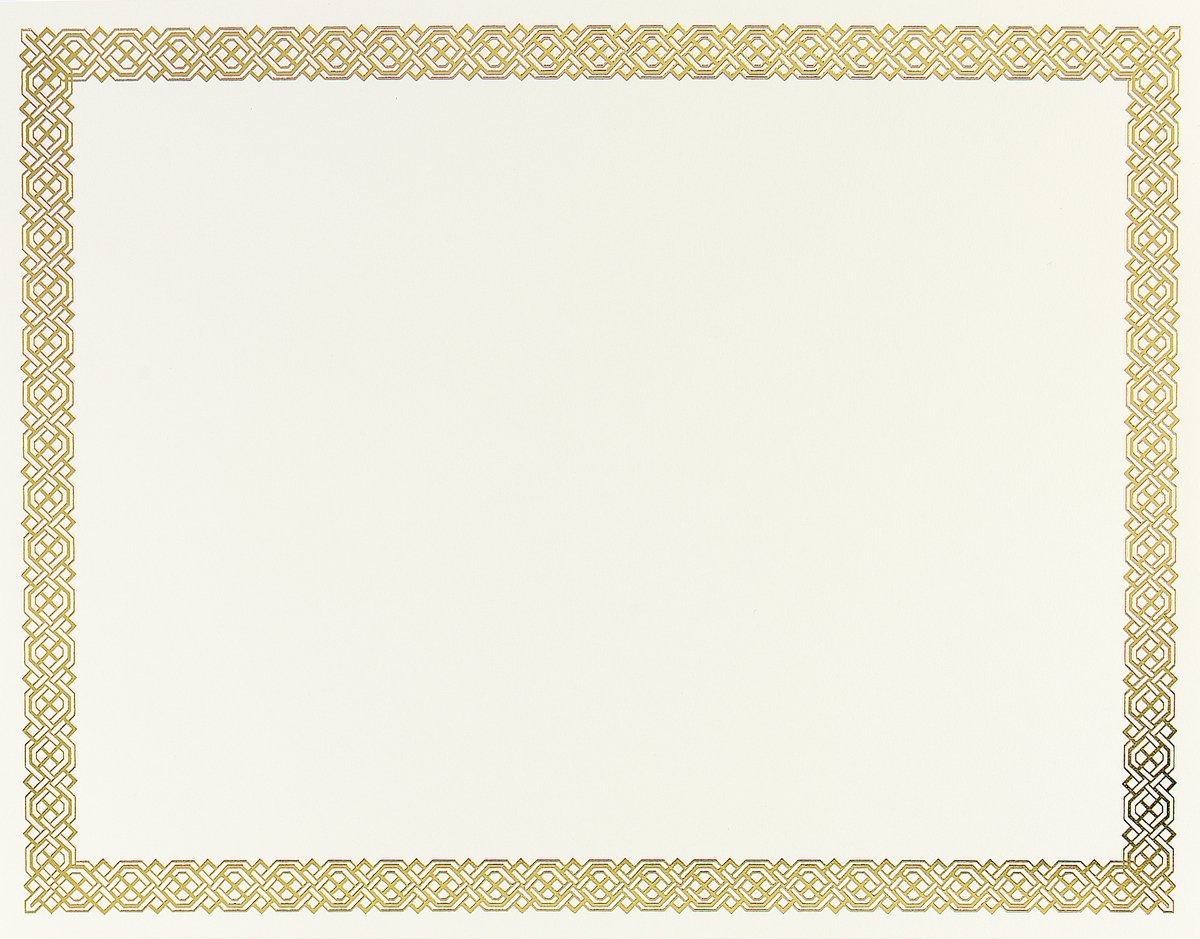 Braided Foil Certificate, 8.5 X 11 Inches, 12 Count (936060) : Paper  Stationery : Office Products  Award Paper Template