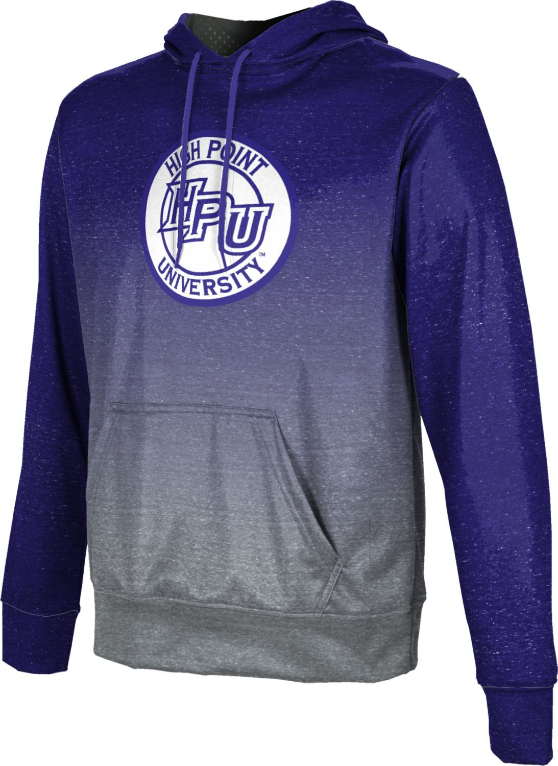 High Point University Boys' Pullover Hoodie, School Spirit Sweatshirt (Ombre) FD001 Purple and Gray