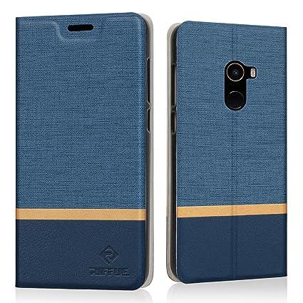 Funda Xiaomi Mi Mix 2, Riffue® Xiaomi Mi Mix2 Carcasa PU Ultra Delgada con Cartera de Estilo Libro Vaquero Protectora de Folio Flip Case para Xiaomi ...