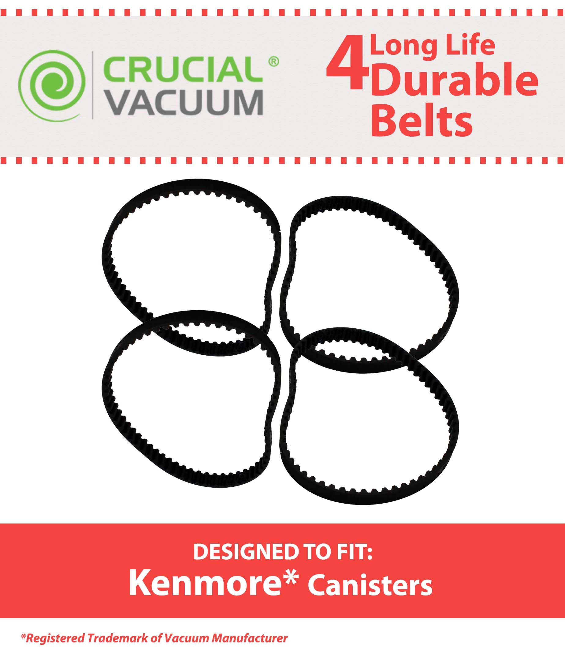 /& Cen-Tec Part # EB24010 High Quality Long Life Durable Vacuum Belt 2 PK Designed To Fit Kenmore CB-1 Geared Belt Part # 20-5285 Hayden Part # 743411 742024 /& NuTone Geared Belt Part # 46-3300-03 4193-00 Free Shipping