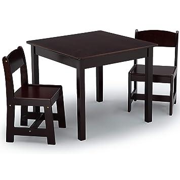 Brilliant Delta Children Mysize Kids Wood Chair Set And Table 2 Chairs Included Dark Chocolate Frankydiablos Diy Chair Ideas Frankydiabloscom