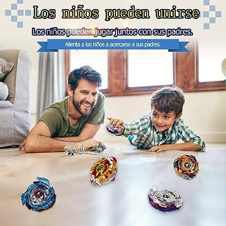 Innoo Tech Peonzas Gyro Burst 4 Pcs Spinning Fusión 4D Conjuntos de Metal, Launcher con Estadio, Regalo para niños