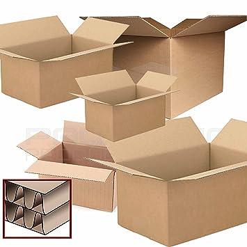 Cajas de cartón para mudanza, de doble pared, grandes, 10 unidades, de la marca PPD: Amazon.es: Oficina y papelería