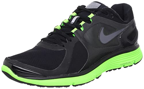 innovative design d3cf0 ad6fa Nike Lunar Eclipse 2 Shield Running Shoes Black Dark Grey-electric Green  6.5 D