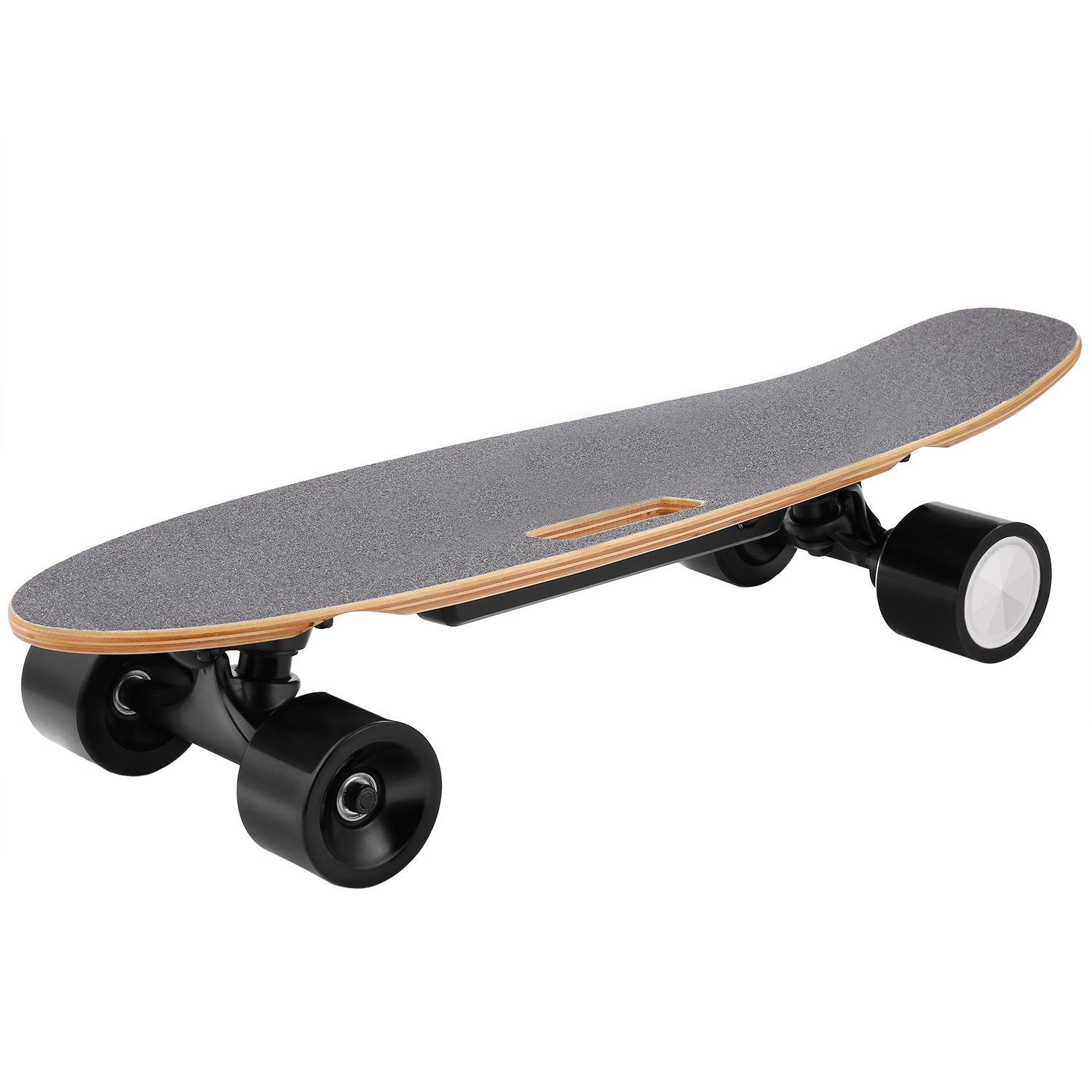 WeSkate E200 Mini Electric Cruiser Skateboard, 7-ply Canadian Maple, 12 MPH Max Speed, 350W Hub Motor Penny Board Motorized Skateboard with Remote Control