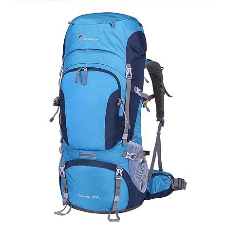 2ea52dd9b1b9 Mountaintop 60L 登山リュック ハイキング バックパック バッグ 大容量 レインカバー付き 撥水 リュック