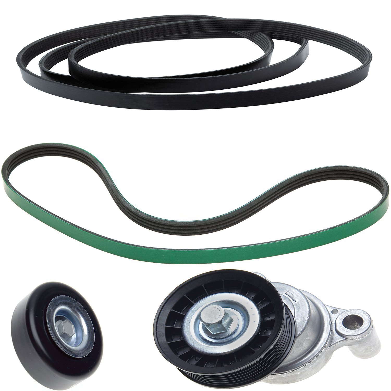 ACDelco ACK060935HD Professional Automatic Belt Tensioner and Pulley Kit with Tensioner, Pulley, and Belts by ACDelco