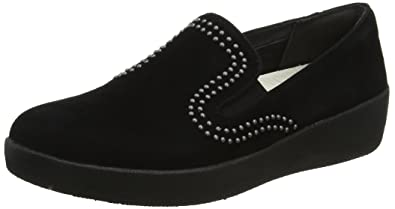 a4be9daaf8f0 FitFlop Womens Superskate with Studs Loafer Shoes