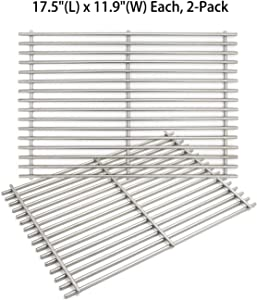 "Hongso 7639 7638 17.5"" SUS 304 Gas Grill Cooking Grates Replacement for Weber Spirit 300 Series, Spirit 700, Genesis Silver B/C, Genesis Gold B/C, Genesis Platinum B/C, Genesis 1000-3500, SCG638"