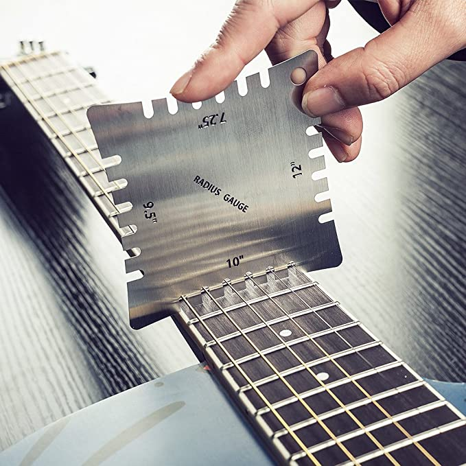 Stringed Instruments Musical Instruments 4pcs Stainless Steel Guitar Notched Radius Gauge Design Fingerboard Fretboard Measuring Tool Set Wide & Narrow Radius Gauges