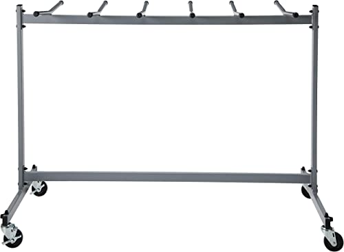ZOWN Commercial Heavy Duty Folding Chair Trolley Cart, Gray