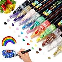 REJODA Set van 2 Acrylstiften met 18 Kleuren, Acrylverf, 2-5mm, Sneldrogend, Premium Verfstiften voor Doe-het-Zelf…