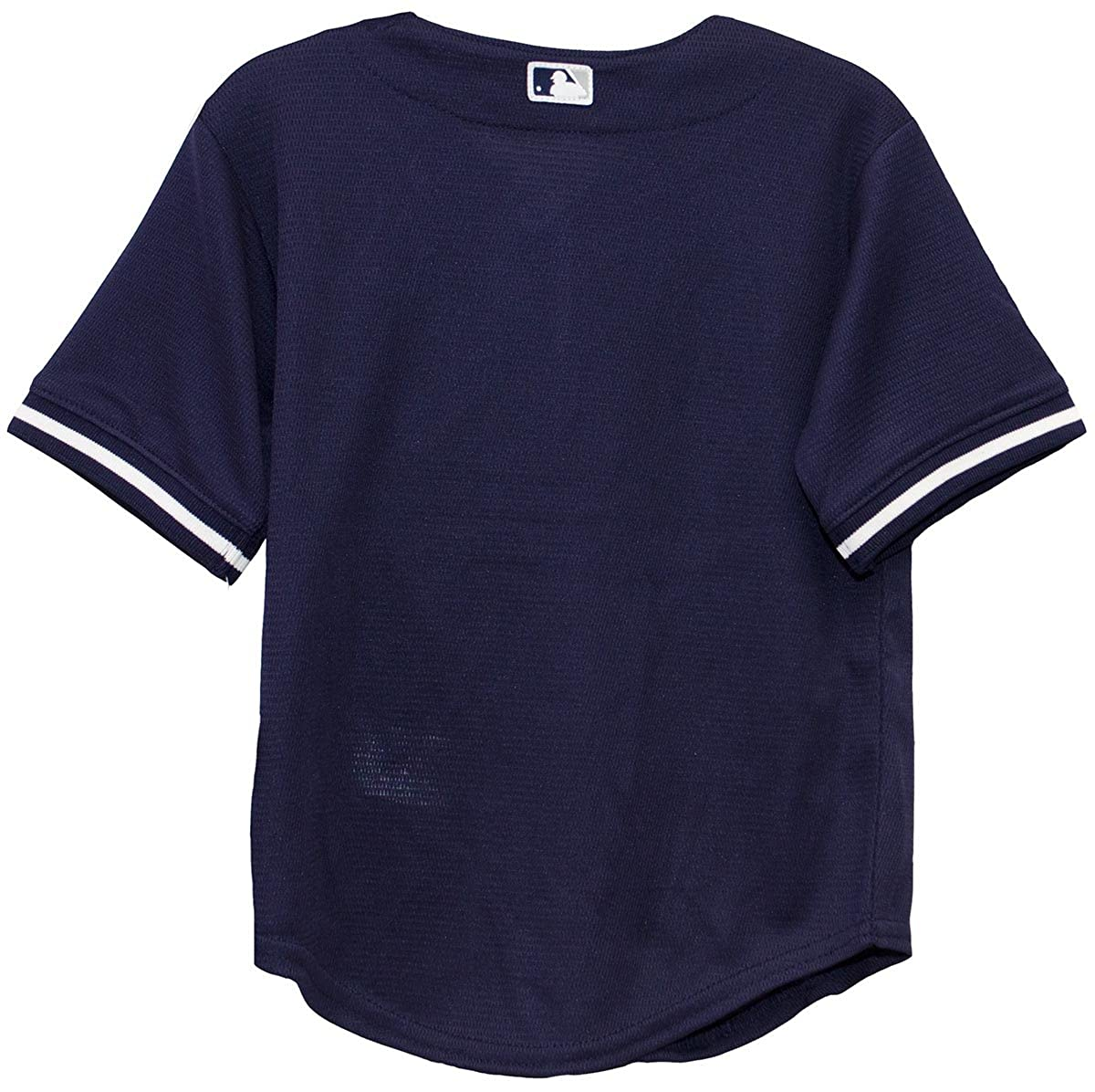 2571442deb5 Amazon.com   Majestic New York Yankees MLB Toddler Navy Blue White Baseball  Jersey (Toddler 2T)   Sports   Outdoors
