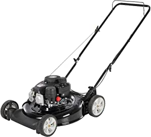 Yard Machines 132cc OHV 21-Inch 2-in-1 Gas Powered Walk Behind Push Lawn Mower - Side Discharge and Mulching Capabilities, Black (11B-A0MA700)