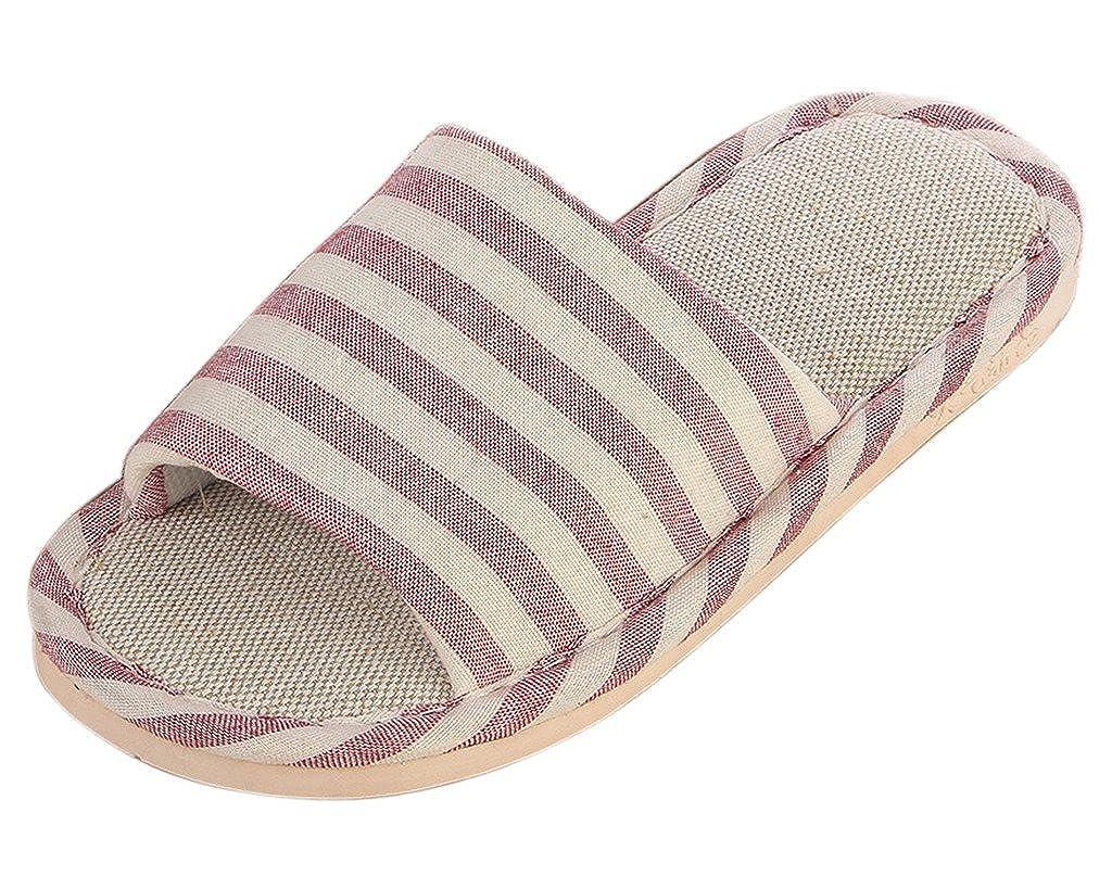 Minetom Donne Uomini Unisex Pantofole Morbido Lino Interno Scarpe Coppia Pantofole