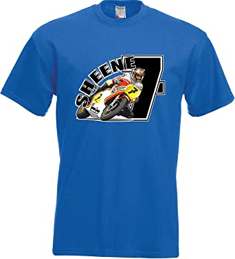 RISKYT Chicos Camiseta Retro Barry Sheene Blk No 7 Moto Grand Prix ...
