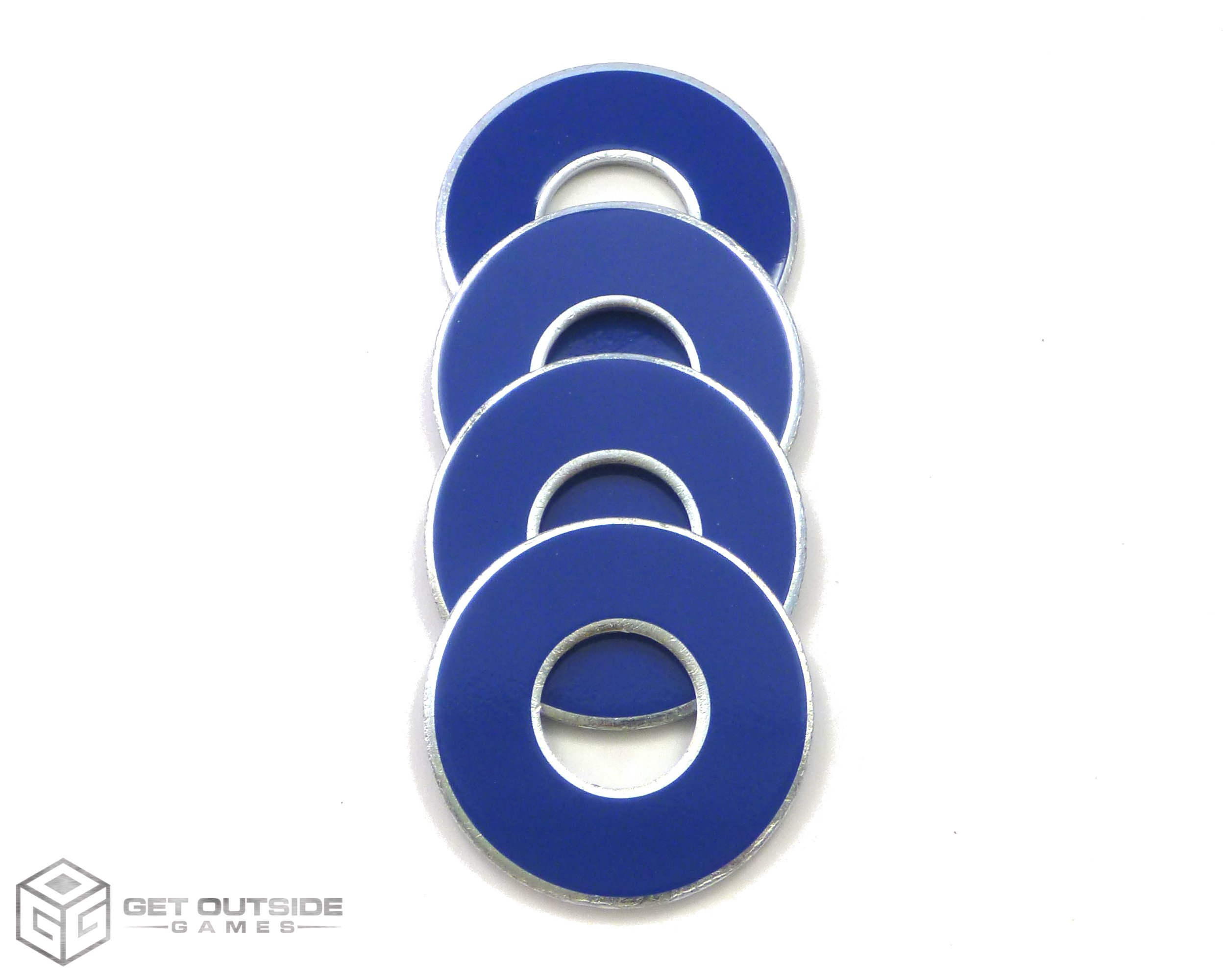 Get Outside Games 4 VVashers - Washer Toss/Washer Game Washers (Blue-Royal, 4 VVashers)