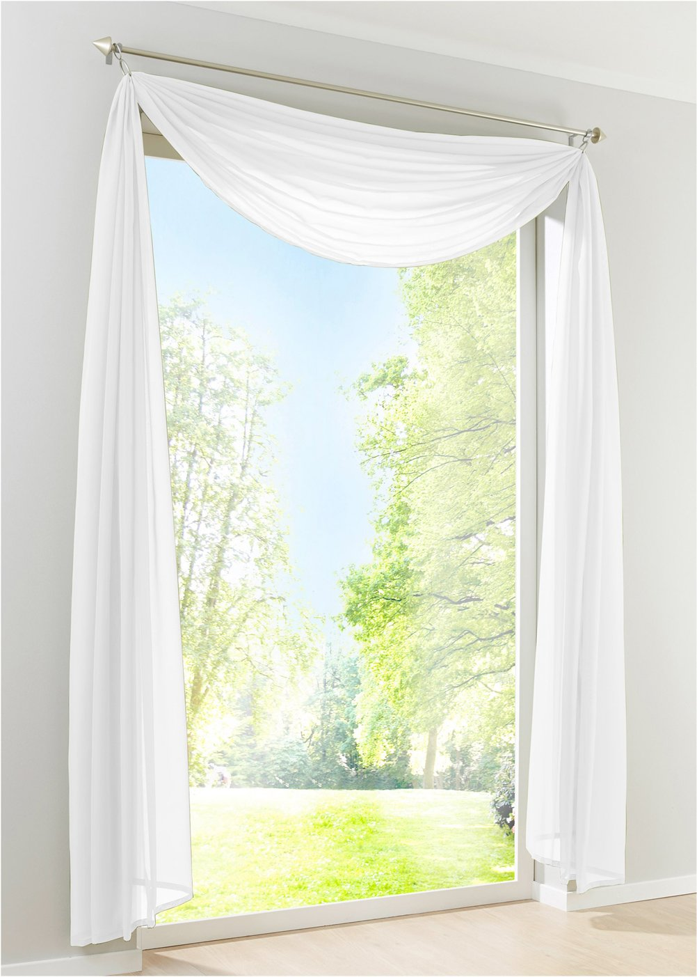 LivebyCare Multi Color Solid Pelmet Sheer Window Scarf Swag Voile Curtain Valance Panel for Wedding Family Room Hotel