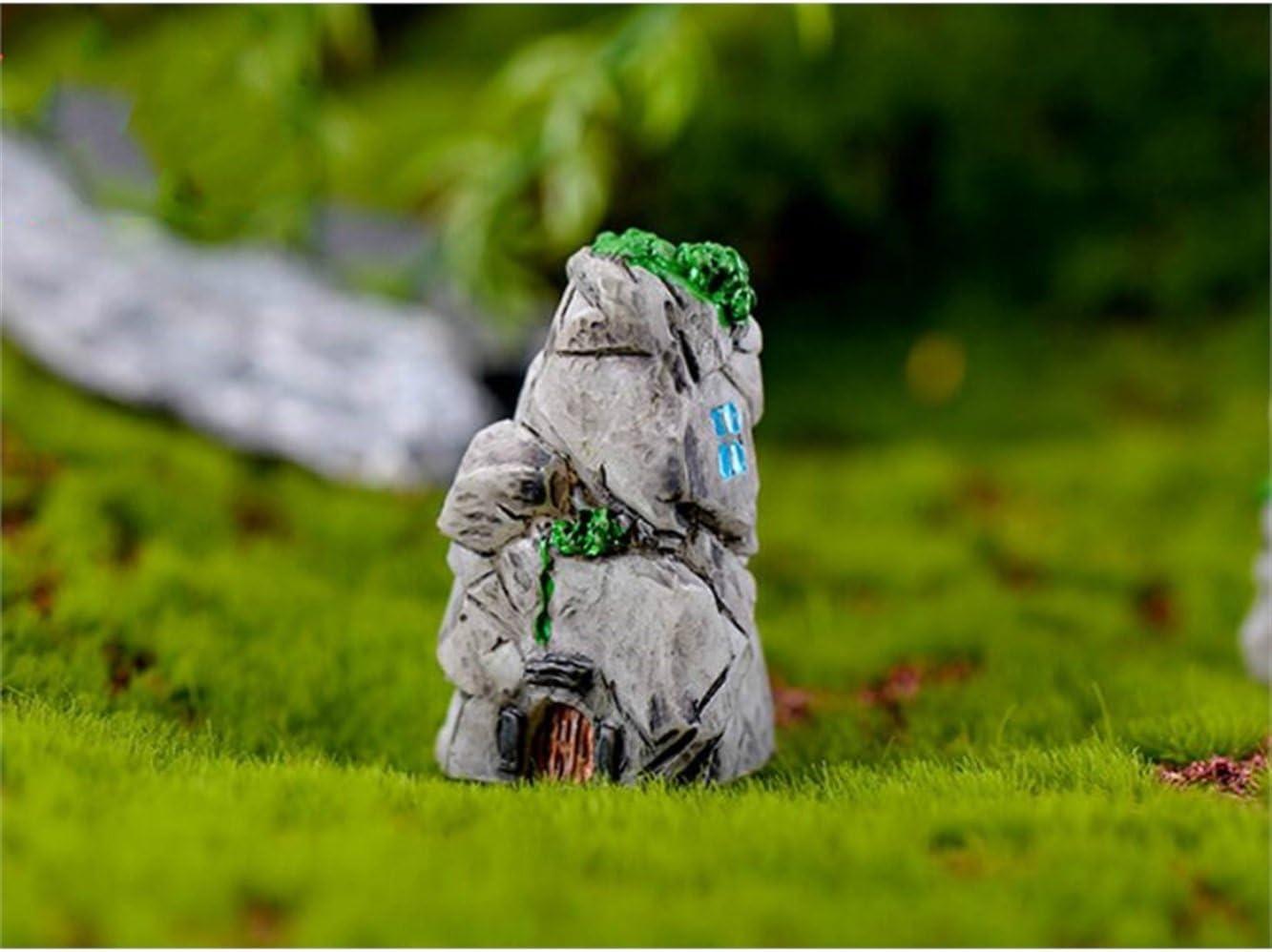 HGJNGHBNG Jardín en Miniatura 1 unid en Miniatura Micro Paisaje casa de Piedra Adornos de rocalla jardín Bricolaje decoración del hogar (Estilo Aleatorio): Amazon.es: Hogar