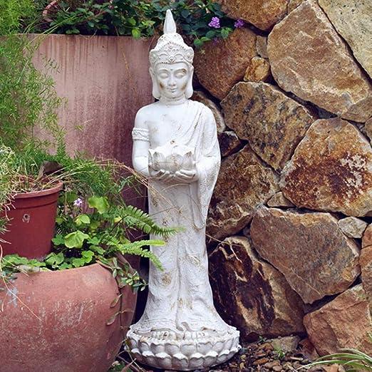 zenggp Thai Buddha Candelero Meditación Paz Armonía Estatua Dorada Tailandia Decoración del Hogar Jardín Zen: Amazon.es: Hogar