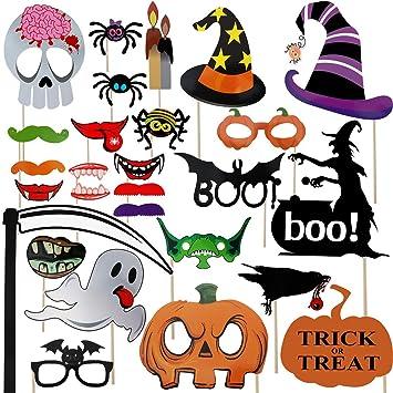 Amazoncom Halloween Photo Booth Props 27 Pcs For Halloween