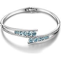 Menton Ezil Spiritual Guidance Rose Gold Plated Swarovski Element Bracelet Love Designed Adjustable Bangle Womens Jewellery