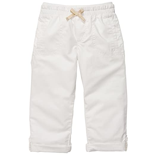 3b0832941d Amazon.com: Carter's Girls Roll Tab Poplin Capri Pants: Clothing