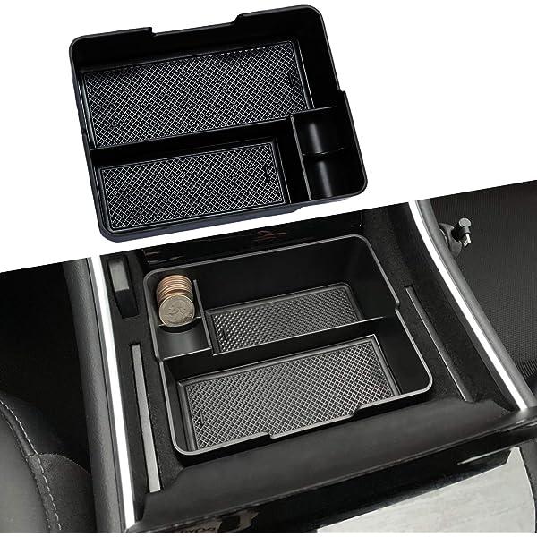 HITECHLIFE Car Coin Storage Box Plastic Coin Holder Coin Clip Car Coin Plastic Bracket Coin Storage Box Black