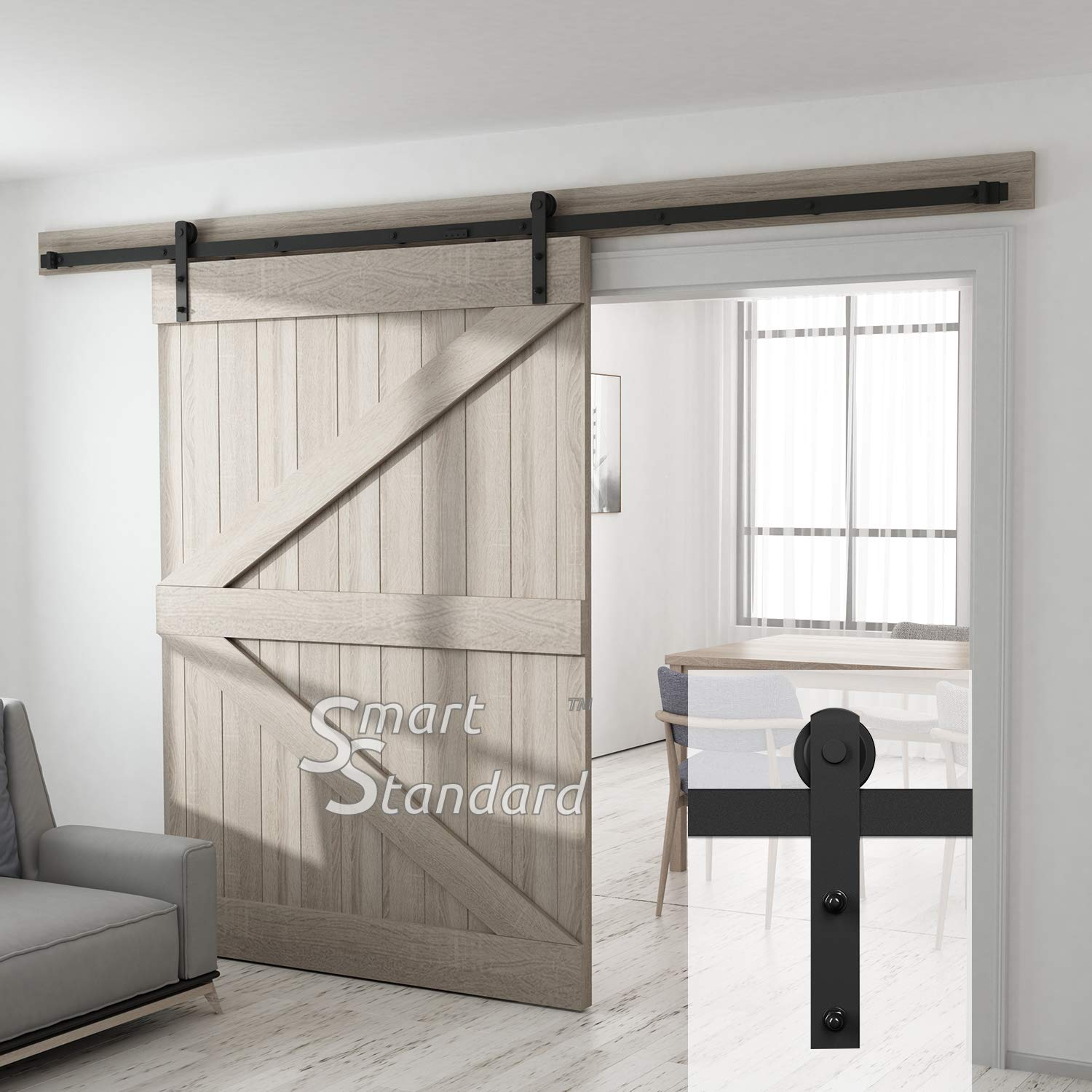 Amazon 10ft Heavy Duty Sliding Barn Door Hardware Kit For