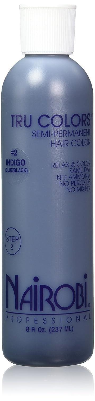 Nairobi Tru Semi-Permanent Hair Color, Indigo, 8 Ounce