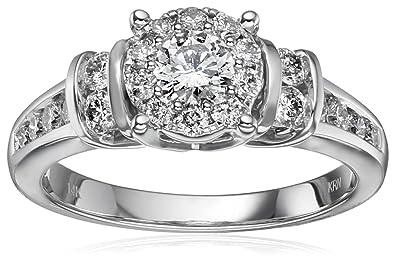 1fc1052656c05b 14k White Gold Composite Diamond Engagement Ring (1 cttw, H-I Color, I1-