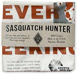 product image for Colter Co. Survival Bandana for Fishing, Camping, Hiking (Sasquatch Hunter) | 100% Cotton, Made in The USA