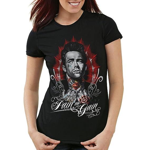 71b455ce3718 style3 Dean Tattoo Damen T-Shirt james rock tätowiert biker usa  Amazon.de   Bekleidung