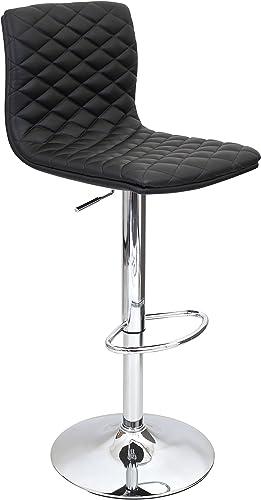 WOYBR Pu Leather, Chrome Caviar Barstool