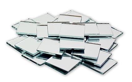 Amazoncom Inch Small Glass Square Craft Mirrors Bulk Pieces - 1x1 mirror tiles