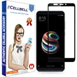 CELLBELL Xiaomi Redmi 5 Full Edged Glued Tempered Glass Screen Protector with Free Installation Kit(Black)