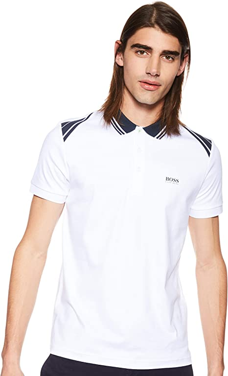 BOSS Hugo 50404272 100 - Polo para Hombre - Blanco - Large: Amazon ...