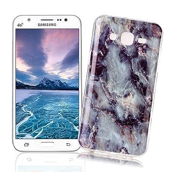 XiaoXiMi Funda Samsung Galaxy J5 2015 SM-J500F con Textura de Mármol Carcasa de Silicona Slim Soft TPU Silicone Case Cover Funda Protectora Carcasa ...