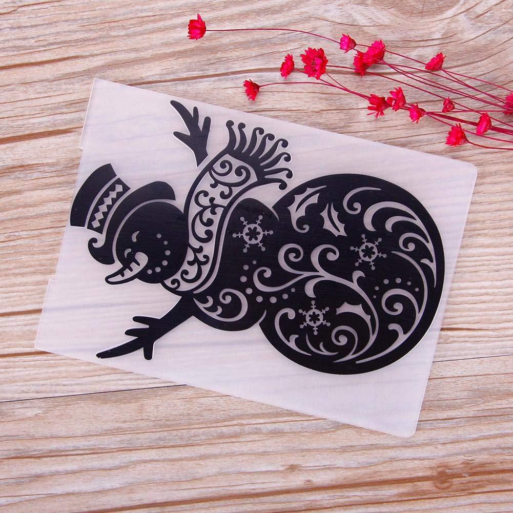 WXLAA Holiday Festival Embossing Folders Christmas Halloween Plastic for DIY Craft Scrapbooking Paper Card Making Decorative 06#