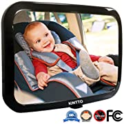 KINTTO Baby Car Mirror,Car seat Mirror for Viewing Rear Facing Infant in Backseat Safety Secure with Dual-Strap