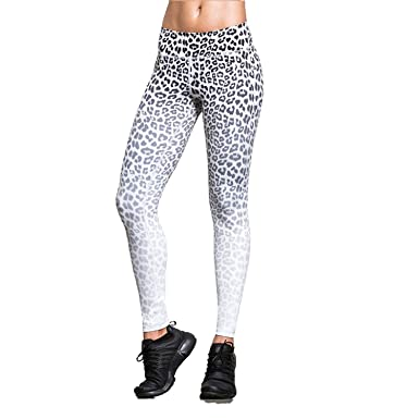 4310a3249590 Image Unavailable. Image not available for. Color: Women Sport Legging Sexy  Leopard Printed Yoga Pants ...